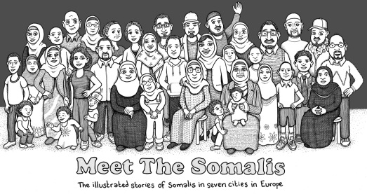 Open Society Initiative for Europe -- Meet the SomalisThe illustrated stories of Somalis in seven cities in Europe