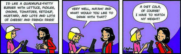 Comic strip about diet food