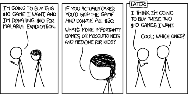 Comic strip about charity