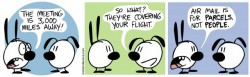 Comic strip Mimi and Eunice - Flights