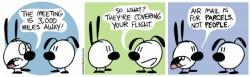 Comic strip Mimi and Eunice - Flights