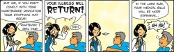 Callous comic on the fear of expensive medical blls
