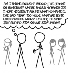 xkcd comic - internal monologue at a social event