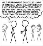 xkcd comic - internal monologue at a social event
